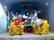 Paul and Chris at the Hard Rock Hotel in Bali