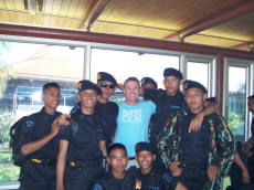 Paul with Indonesian Police