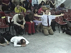 Argentinians praying fervently in Buenos Aires, where Paul preached.