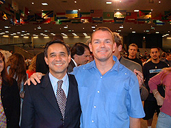 Paul with Colombian Pastor Cesar Castellanos in Baton Rouge, Louisiana.