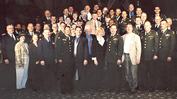 Chaplains from every branch of the U.S. Military in Dallas, TX to whom Paul spoke during their annual conference.