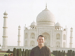Paul at Taj Mahal in Agra, India.