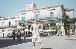 Paul in old Havana, Cuba.