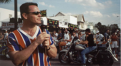 Paul speaking at Bike week in Daytona Beach, FL.
