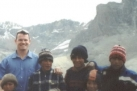 Paul in the Ecuador mountains with friends.