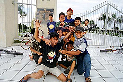 Happy kids from Medan, Indonesia where Paul assisted after the tsunamis.