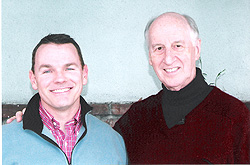 Paul with Pastor Jack Hayford in Van Nuys, California
