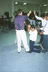 Paul speaking to a congregation in Timor Leste (before it broke away from Indonesia).  The man was deeply moved and ran to the altar to give his heart to God before Paul finished speaking.