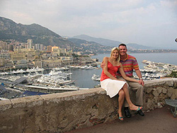Paul & Karla at Monaco along the beautiful Mediterranean Sea.