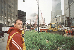 Paul at Ground Zero in NYC where the World Trade Center used to be
