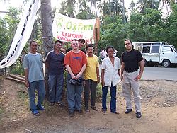 Paul & Isai with homeless victims of the tsunamis at the epicenter in Banda Aceh, Indonesia.