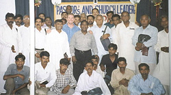 Paul with Pakistani leaders from Faisalabad to whom he spoke for 3 days during a conference.