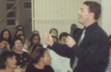 Paul speaking in Brasilia, Brazil