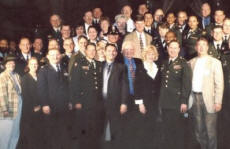 Chaplains from every branch of the U.S. Military in Dallas, TX to whom Paul spoke during their annual conference