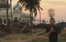 Paul at the tsunami epicenter in Banda Aceh, Indonesia where 200,000 people tragically died