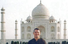 Paul at Taj Mahal in Agra, India