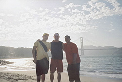 Paul, Jack & Jon at the Golden Gate Bridge in San Francisco.