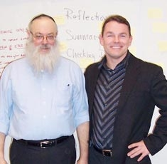 Paul with Dr. Baruch Bush at Hofstra Law School where he studied Transformative Mediation and Conflict Resolution