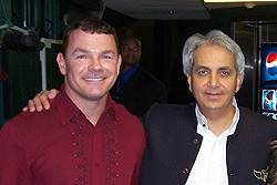Paul with Pastor Benny Hinn from whom he learned about the Holy Spirit and supernatural ministry while attending his church for two-and-a-half years in Orlando