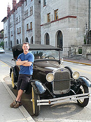 Paul relaxing in lovely St. Augustine, the nation�s oldest city.